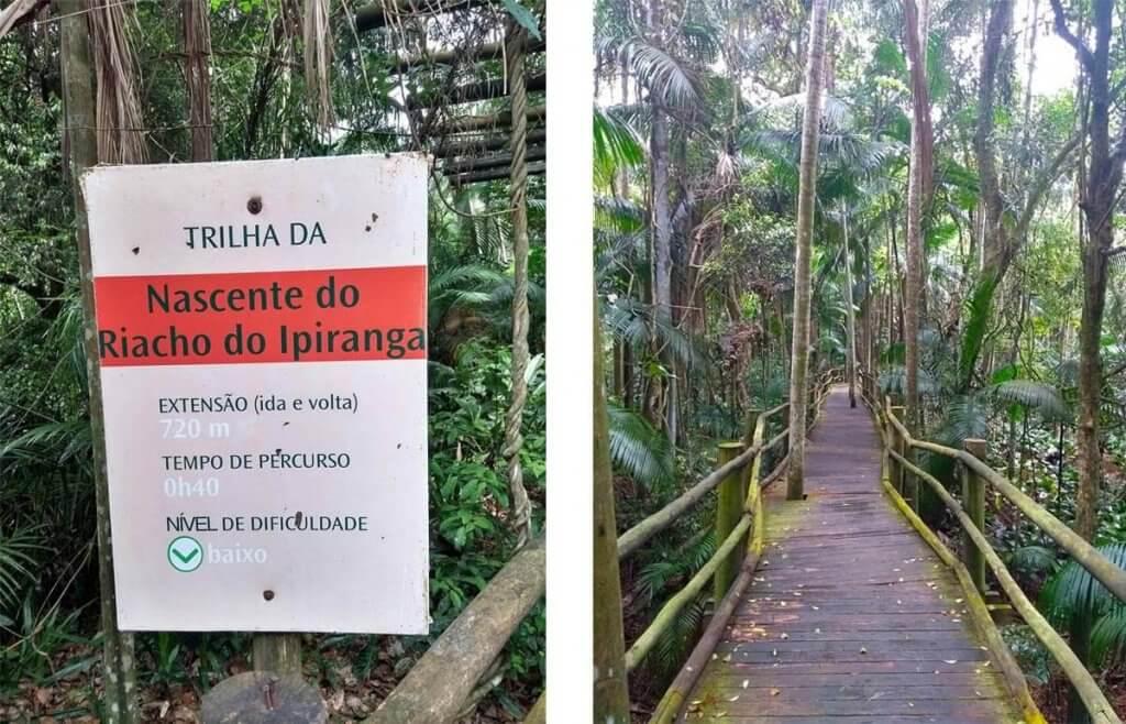 Trilha acompanha a nascente do Riacho Ipiranga